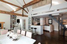 Кухня-столовая в стиле лофт. Европа в собственных стенах