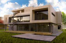 Строительство дома с плоским полотном крыши
