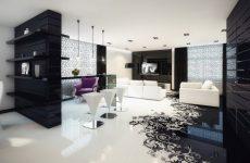 Дизайн дома в черно-белой гамме