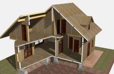 Стройка каркасно-щитового дома