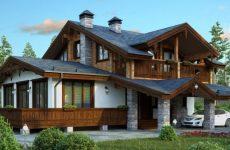 Современные дома с деревянной крышей
