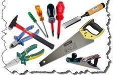 Различные виды инструментов для обустройства дома