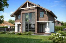 Каркасные загородные коттеджи и дома